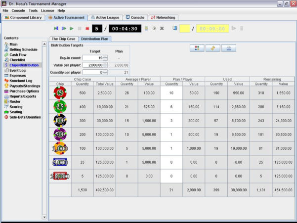 Poker Tournament Formula Spreadsheet With Dr. Neau's Tournament Manager