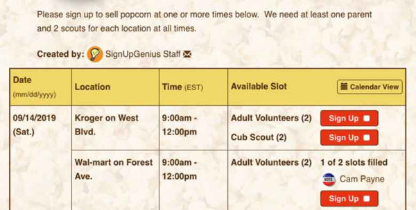 Popcorn Sales Tracking Spreadsheet For Create Sign Ups For Organizing Scouting Volunteers And Events! Popcorn Sales Tracking Spreadsheet Printable Spreadsheet