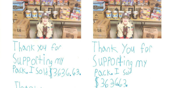 Popcorn Sales Tracking Spreadsheet Intended For Cub Scout Popcorn Thank You Notes  Cub Scout Ideas