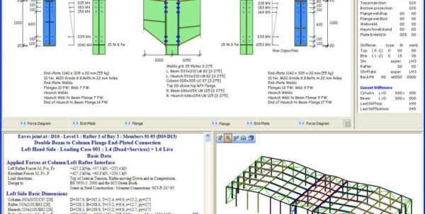 Portal Frame Design Spreadsheet Pertaining To Steel Design Spreadsheet Download Frame Software Framecad Detailer