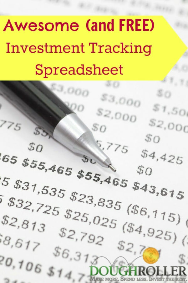 Portfolio Rebalancing Excel Spreadsheet With An Awesome And Free Investment Tracking Spreadsheet