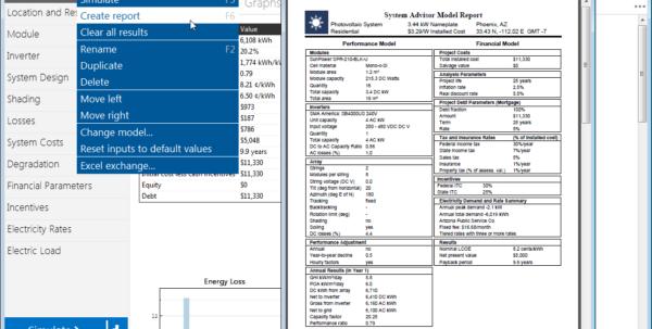 Power Analysis Excel Spreadsheet With System Advisor Model Sam