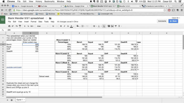 Powerlifting Excel Spreadsheet For Sheet Powerlifting Spreadsheet Maxresdefault Wendler Explained Free