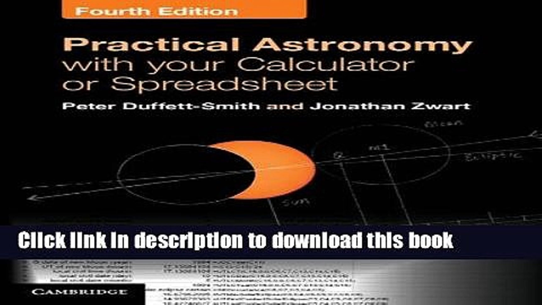 Practical Astronomy With Your Calculator Or Spreadsheet In Books Practical Astronomy With Your Calculator Or Spreadsheet Full