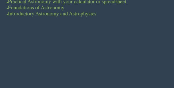 Practical Astronomy With Your Calculator Or Spreadsheet In Positional Astronomy Chapter 3 Fundamentals Of Radio Interferometry Practical Astronomy With Your Calculator Or Spreadsheet Google Spreadsheet