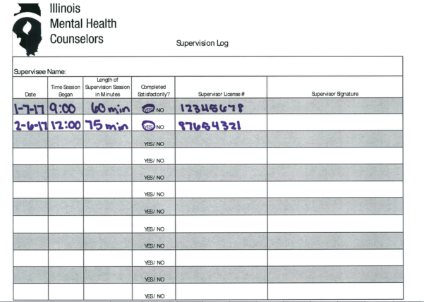 Practicum Hours Tracking Spreadsheets For Imhca  Licensure