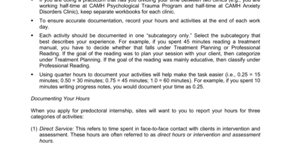 Practicum Hours Tracking Spreadsheets Throughout Guidelines For Tracking Clinical Hours Department Of Psychology