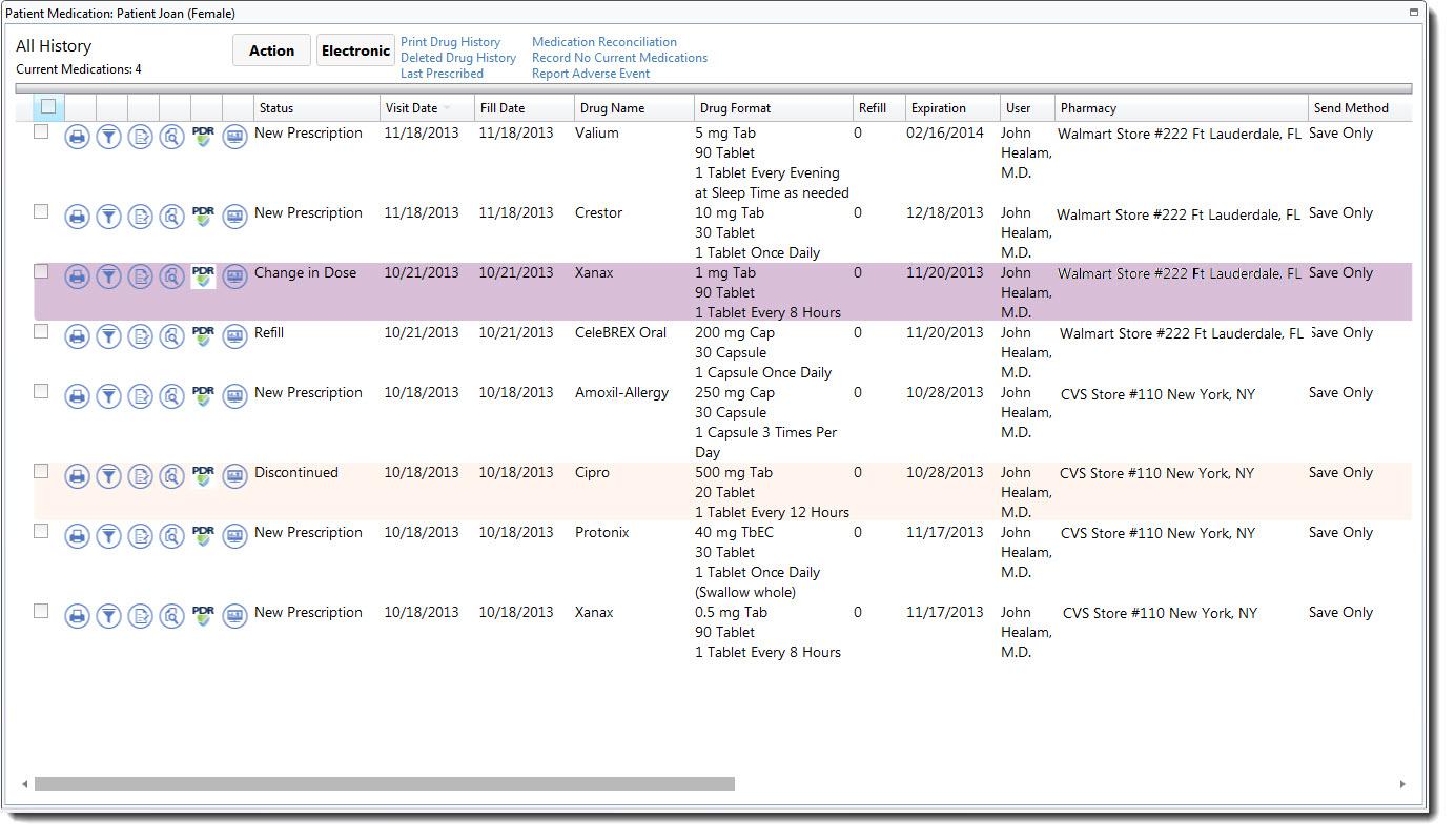 Prescription Refill Spreadsheet Within Electronic Medical Record  Emr  Scriptsure  Daw Systems