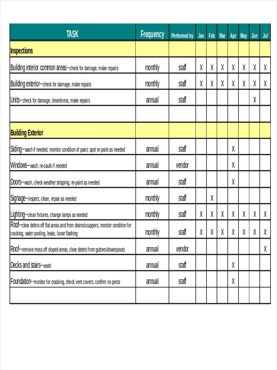 Preventive Maintenance Spreadsheet Template Intended For Preventive Maintenance Spreadsheet Excel Download Template Invoice
