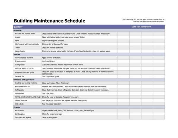 Preventive Maintenance Spreadsheet Template With Regard To Preventive Maintenance Spreadsheet And Vehicle Maintenance Checklist