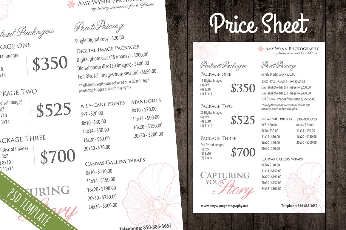 Pricing Spreadsheet Template In Price Sheet Template – Emmamcintyrephotography