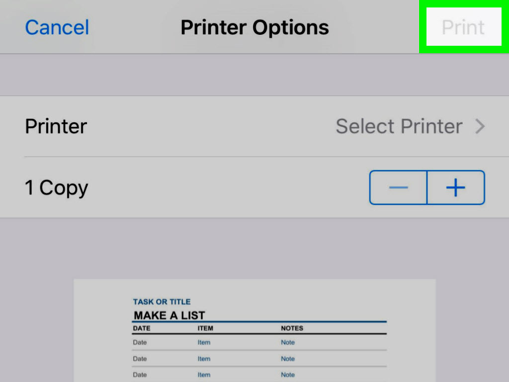 Print Spreadsheet Pertaining To How To Print An Excel Spreadsheet On Iphone Or Ipad: 14 Steps