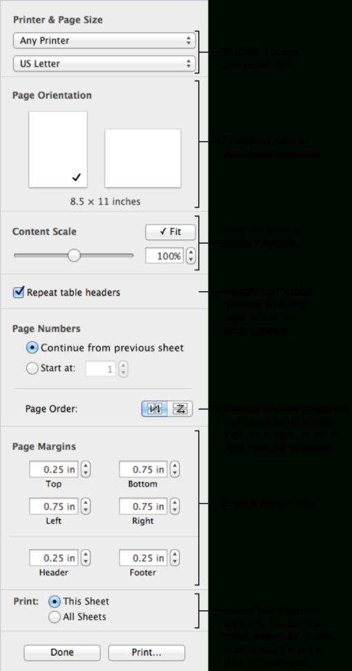 Print Spreadsheet Within Print A Spreadsheet, Numbers Help