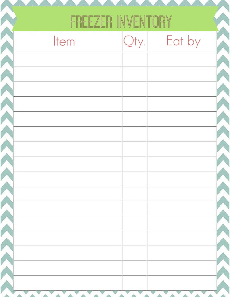 Printable 3 Column Spreadsheet With Regard To 3Columnfreeprintablefreezerinventory Simply Sweet Days