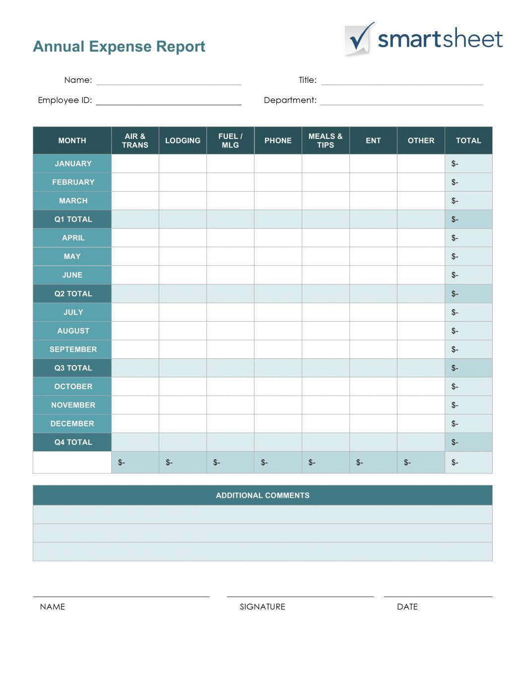Printable Blank Excel Spreadsheet Templates Pertaining To Printable Blank Excel Spreadsheet Templates Free Expense Report