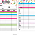 Printable Budget Spreadsheet Inside Free Printable Budget Worksheet Template Planner 360 Degree Tags