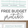 Printable Budget Spreadsheet Intended For Monthly Budget Planner  Free Printable Budget Worksheet