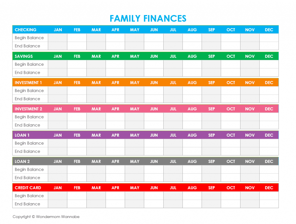 Printable Budget Spreadsheet Throughout Free Printable Family Budget Worksheets