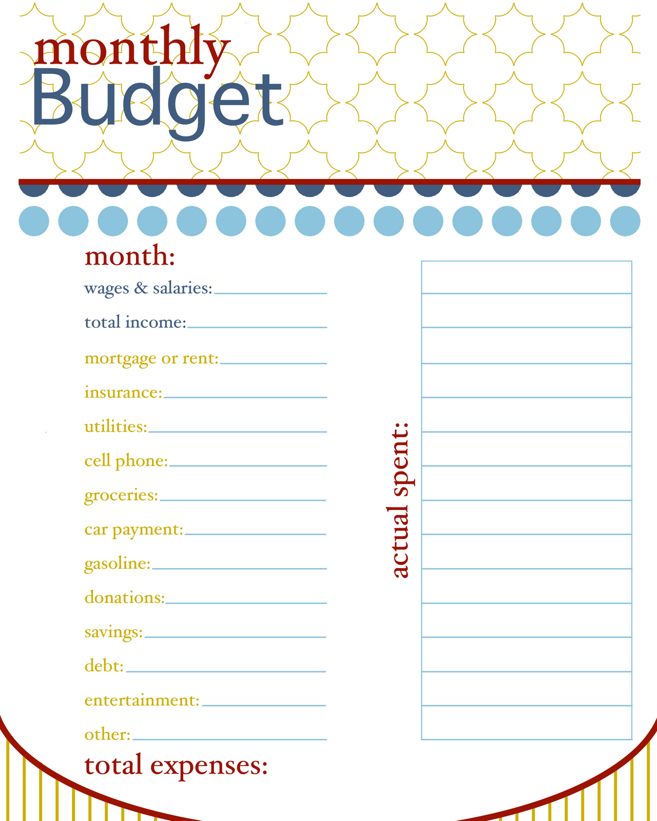 Printable Budget Spreadsheet Within Online Monthly Budget Worksheet Pictures Design Sheet Printable Tire