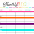 Printable Spreadsheet For Bills With Regard To Monthly Bills Spreadsheet Printable  Homebiz4U2Profit