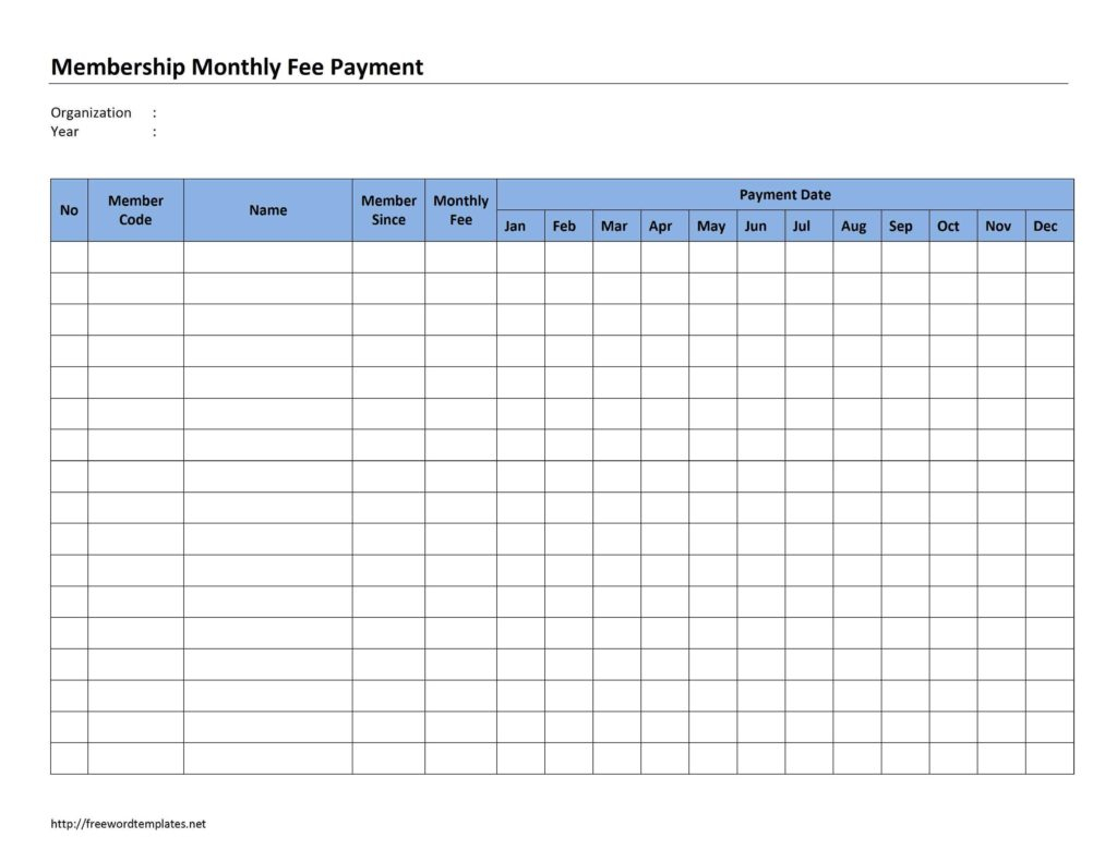 Printable Spreadsheet For Monthly Bills Regarding Free Monthly Bill Template And 13 Best Images Of Printable Monthly
