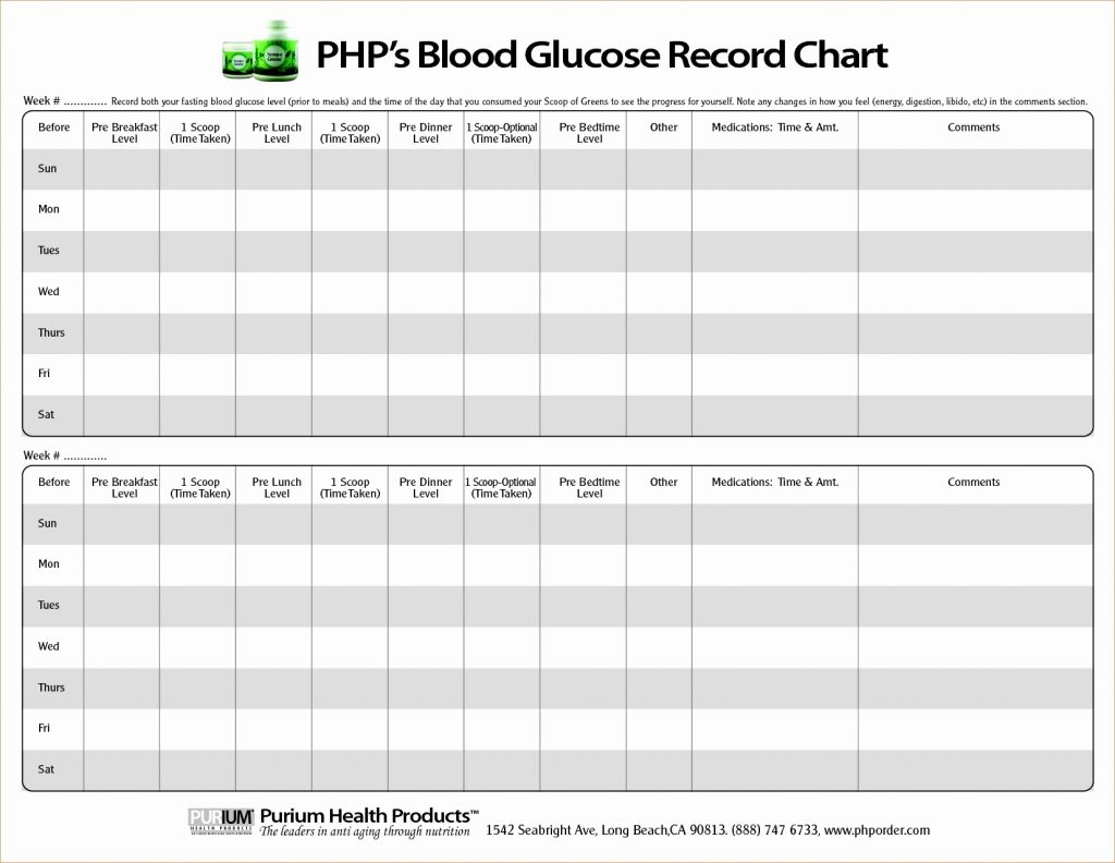 Printable Spreadsheet Pdf Intended For Blood Sugar Spreadsheet Glucose Log Printable Sheets Pdf Book Sample