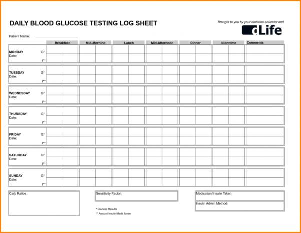 Printable Spreadsheet Pdf Within Blood Sugar Spreadsheet Log Printable Sheets Pdf Sheet Glucose