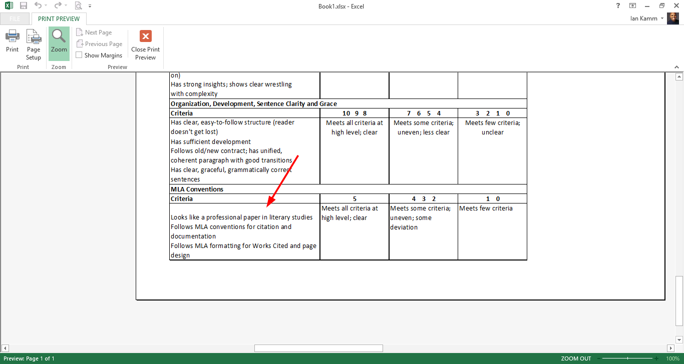 Printing Excel Spreadsheets With Windows 8  Why Does Excel Display My Information Like This In Print