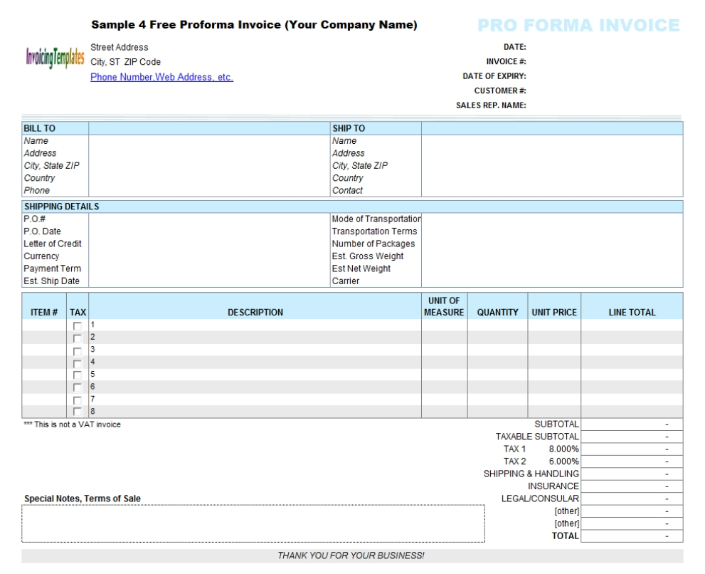 Pro Forma Excel Spreadsheet Inside Pro Forma Excel Spreadsheet Examples Proforma Invoice Xls Template
