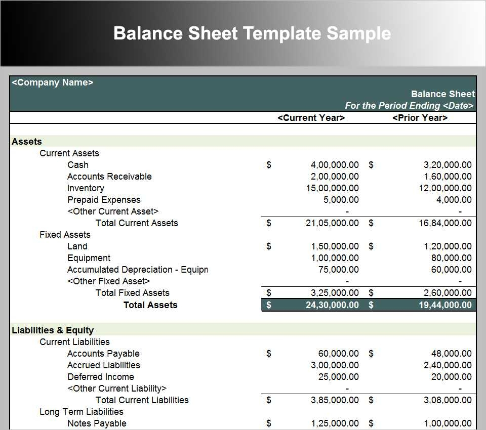 Pro Forma Spreadsheet in Download Balance Sheet Template ...