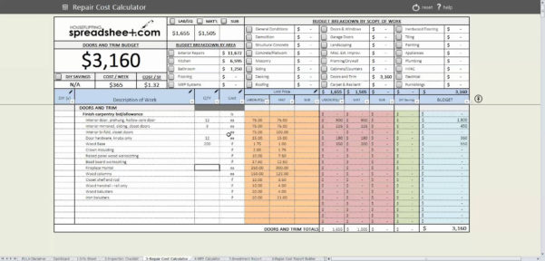 Probate Spreadsheet Throughout Spreadsheet For Estate Accounting  Homebiz4U2Profit