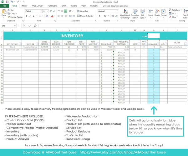 Product Pricing Spreadsheet Templates Pertaining To Product Inventory Spreadsheet Sample Salon Tracking Worksheets