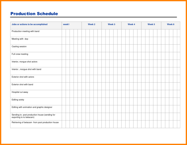 Production Schedule Spreadsheet Template With Regard To 12  Job Shop Scheduling Spreadsheet  Credit Spreadsheet