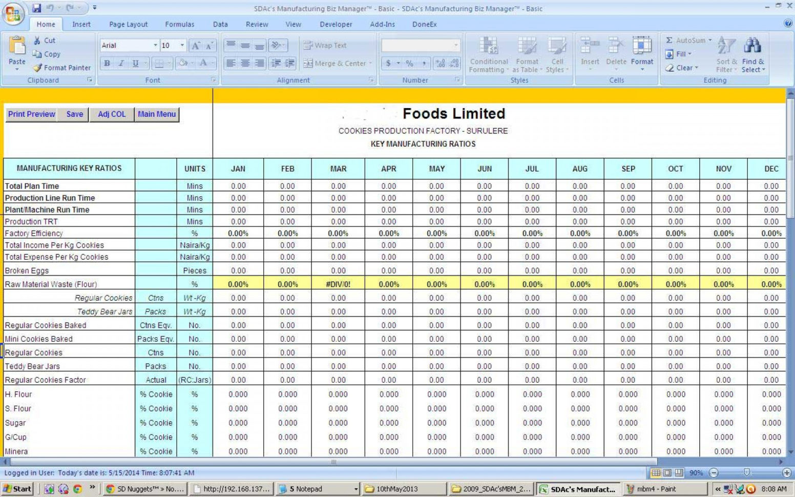 Production Tracking Spreadsheet With Regard To 006 Employee Performance Tracking Template Excel Tv Show Production