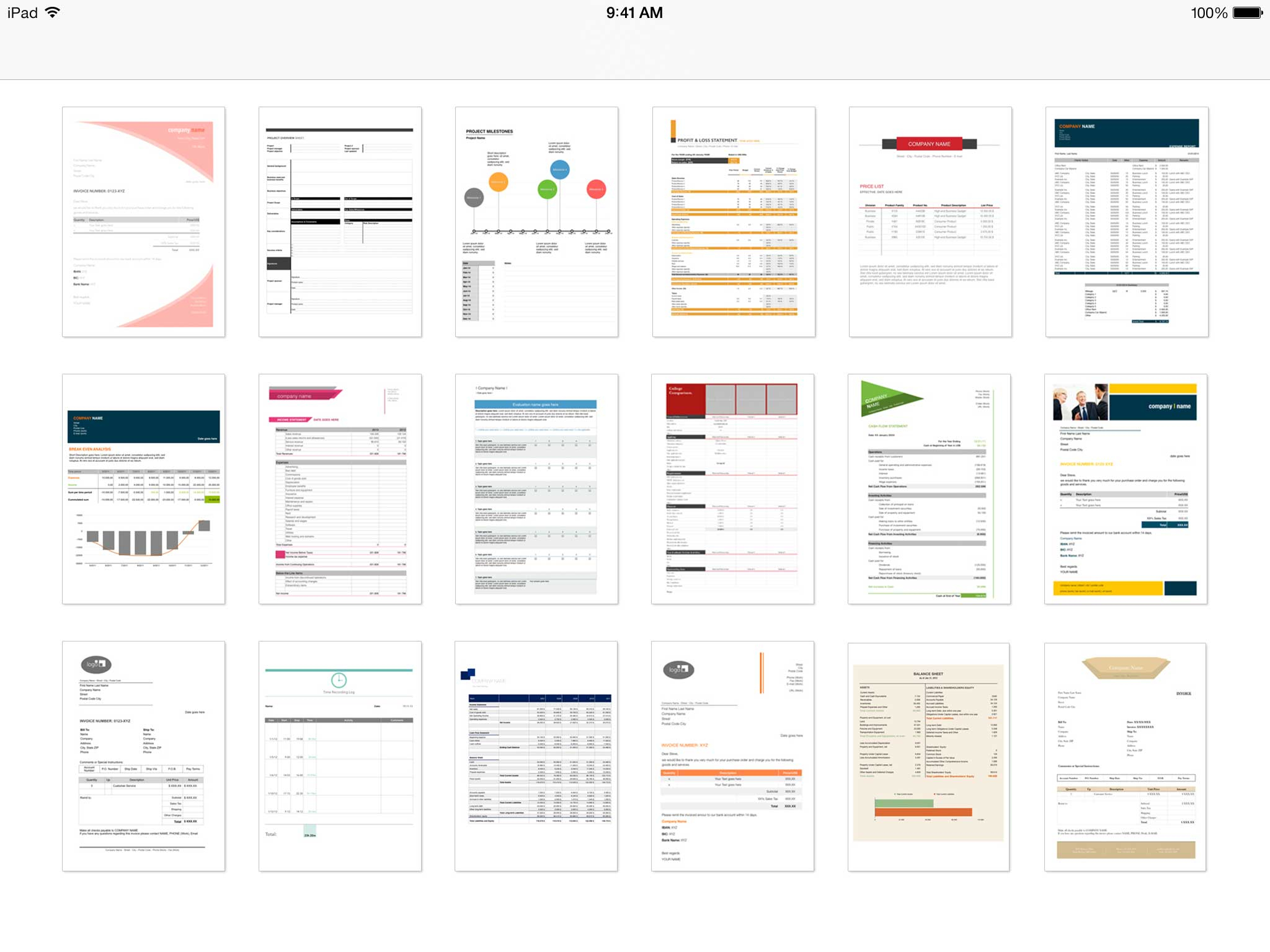 Professional Excel Spreadsheets With Regard To Templates For Excel For Ipad, Iphone, And Ipod Touch  Made For Use