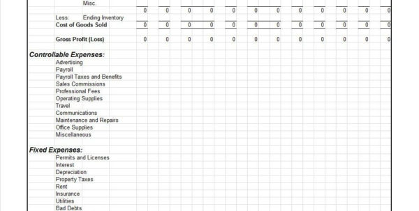 Profit And Loss Spreadsheet Free With 35  Profit And Loss Statement Templates  Forms