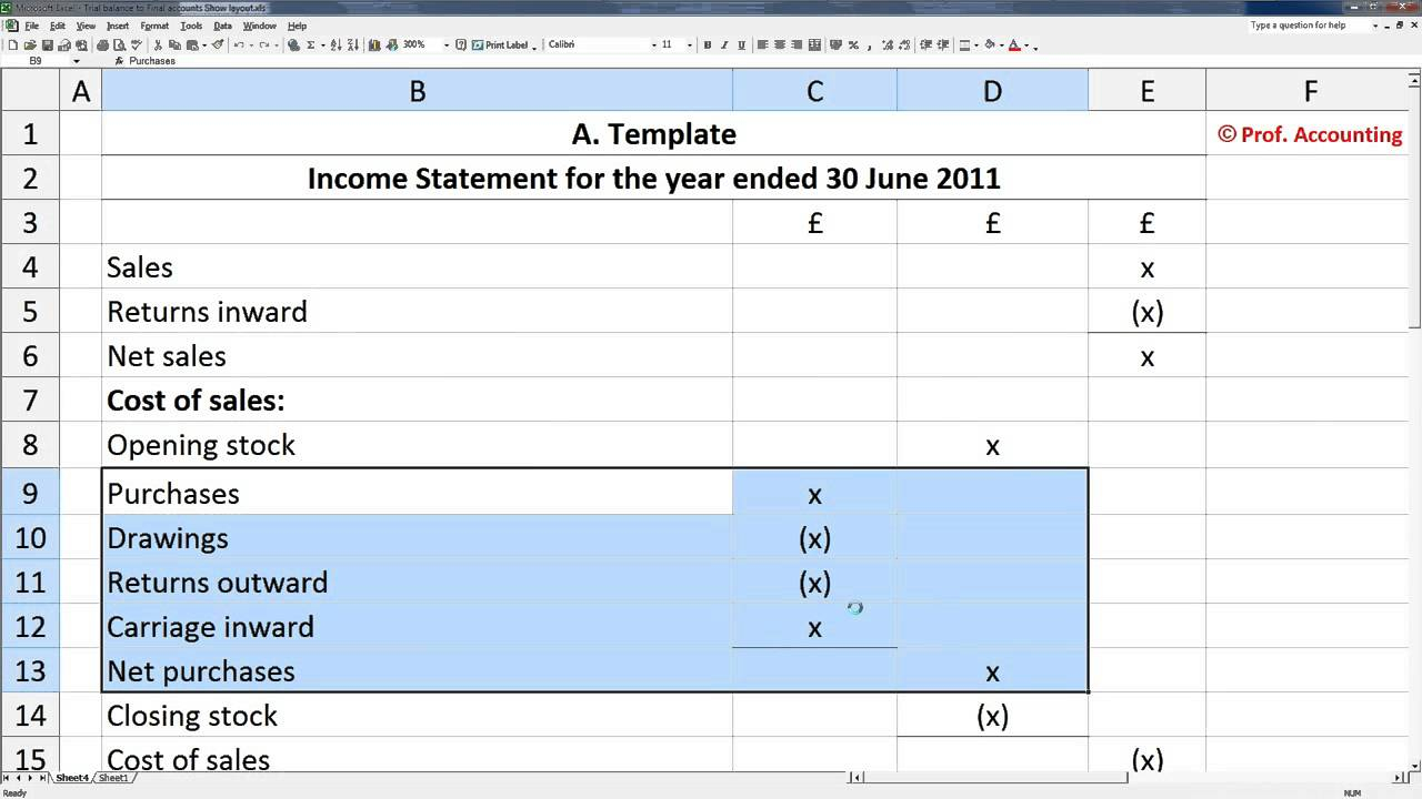 Profit And Loss Statement Excel Spreadsheet For Spreadsheet Examples Profit Loss Template Google Docs Unique Simple