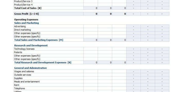 Profit Loss Spreadsheet Free Intended For Profit And Loss Statement Template Free Download With Google Sheets