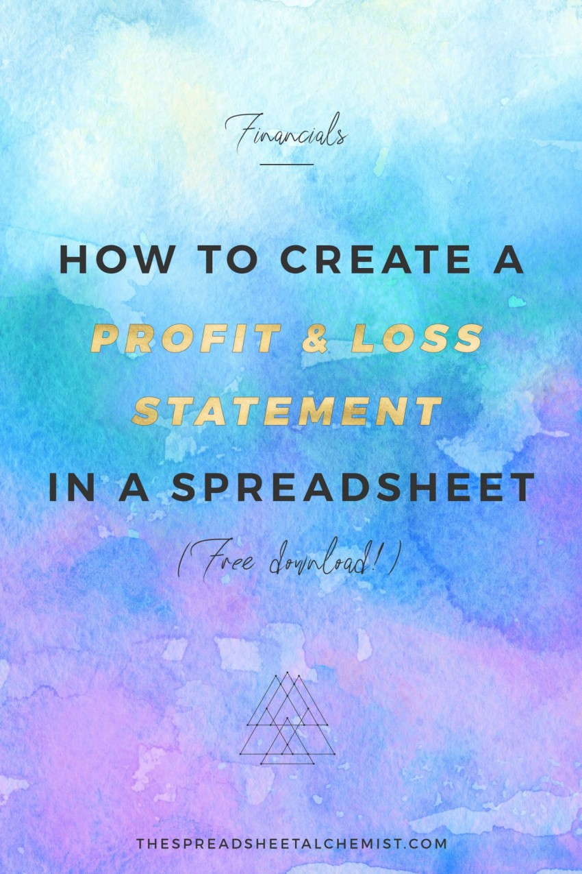 Profit Spreadsheet For How To Create A Basic Profit  Loss Statement Free Download  The
