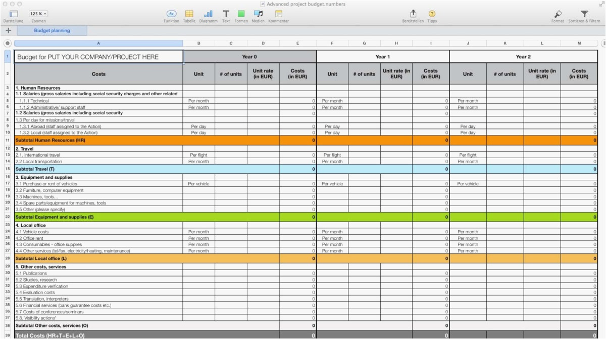Project Budget Spreadsheet regarding Example Of Project ...