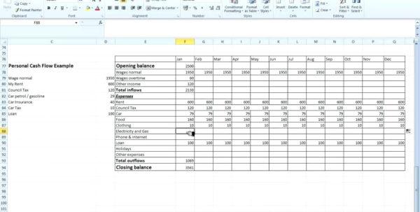 Project Cash Flow Spreadsheet Inside Project Management Forecasting Template Month Cash Flow Projection