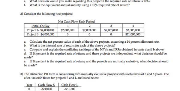 Project Cash Flow Spreadsheet Within Solved: Write Your Answer In The Space Provided Or On A Se
