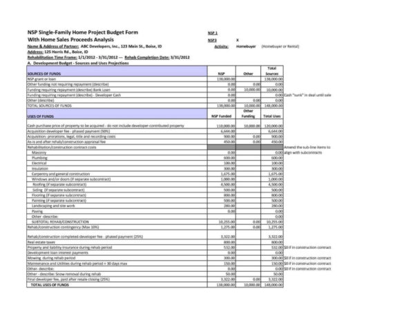 Project Cost Estimate Spreadsheet For Construction Cost Estimate Spreadsheet And Project Cost Estimating