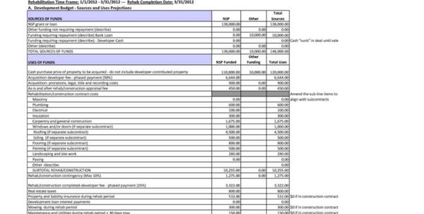 Project Cost Spreadsheet With Regard To Construction Cost Estimate Spreadsheet And Project Cost Estimating