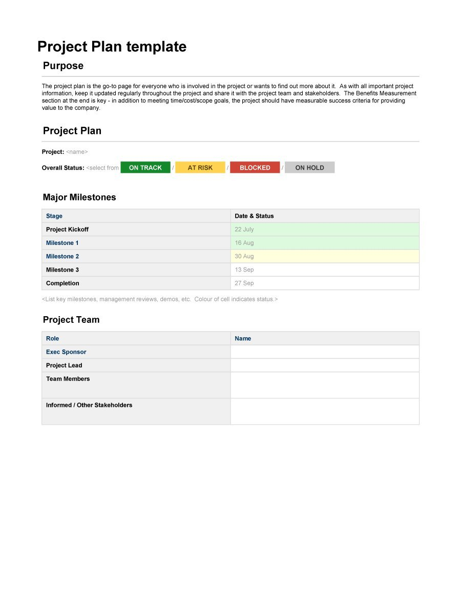 Project Planning Spreadsheet Free For 48 Professional Project Plan Templates [Excel, Word, Pdf]  Template Lab