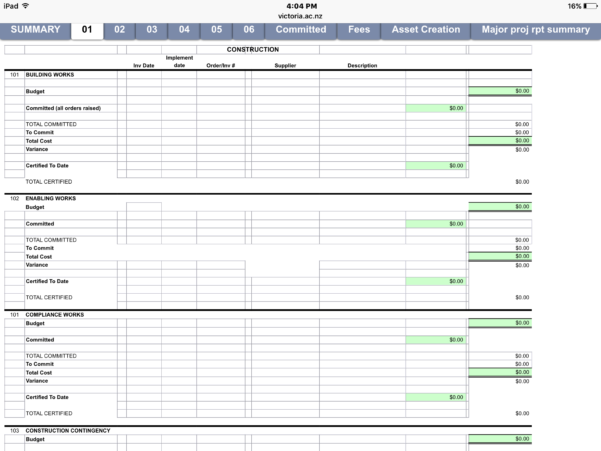 Project Spreadsheet In Project Management Excel Spreadsheet Costing Accounting Tools