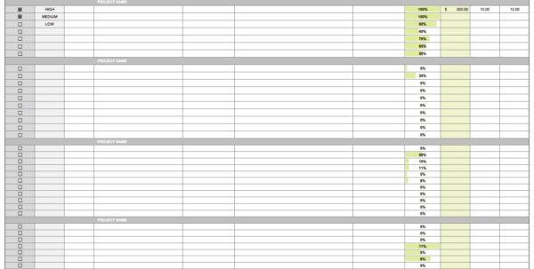 Project Task Tracking Spreadsheet Inside Task Tracking Spreadsheet Project Cost Excel Employee Template Best