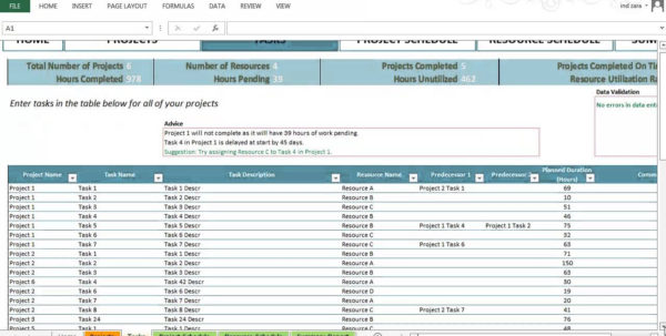 Project Task Tracking Spreadsheet Pertaining To Example Of Task Trackingsheet Project Planner Basic Excel Template