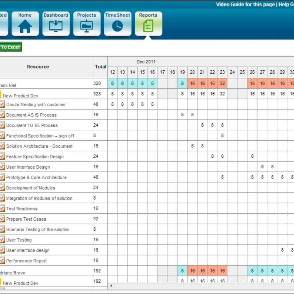 Project Tracking Spreadsheet Excel With Regard To Cloud Based Project Management Software Zilicuspm 5.1 Released