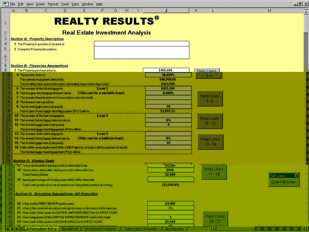 Property Analysis Spreadsheet Pertaining To Investment Property Cash Flow Analysis Spreadsheet